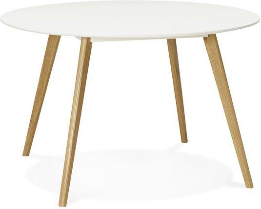 Eettafel camden rond cm wit hout kokoon design lil